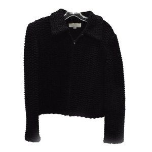 St John Collection Knits Marie Gray Black Zip
